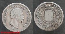 ITALIE ! 50 centimes argent Victor Emanuele, 1860, en TB-