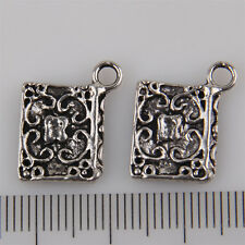 12Pcs Wholesale Zinc Alloy Book Charms Pendants 14x12mm 1A1924