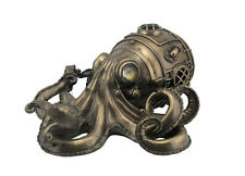 "10.75"" Steampunk Octopus Secret Trinket Box Decor Statue Figure Animal Sculpture"