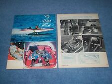 Rayson Craft V-Drive 427 SOHC Powered Vintage Boat Article from 1967