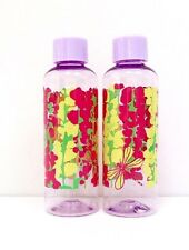 Lot/Set of 2 Estee Lauder Lilly Pulitzer Plastic Travel Bottles For Bag