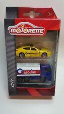 Majorette 212057510 - City Cars - 2Er Set Porsche Panamera & Man Tgs - Neu