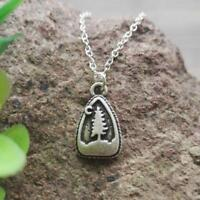 """PINE TREE NECKLACE 15"""" Chain Pewter Pendant Outdoor Camping Mountain Wilderness"""