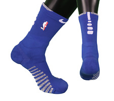 New Nike Large NBA Team Issued Detroit Pistons Basketball Crew Socks Blue White