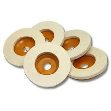 Kent 5 pieces Set of  100mm (4 inch) Wool Polishing Pads With 5/8 inch Hole