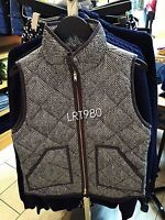 NWT J.Crew Excursion Quilted Puffer Vest in Herringbone XXS XS S M L XL XXL Grey