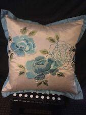 SCATTER BOX Neisha Floral Silk Sky Blue Feather Filled Cushion  45 x 45cm BNWT