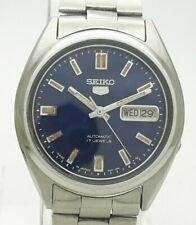 Vintage Seiko 5 Japan Automatic 17J Cal 7009 St Steel Day Date Men's Wrist Watch