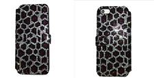 Purple Leopard Made with Swarovski Crystal Bling Card Wallet Case Galaxy S8 Plus