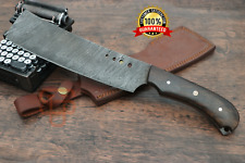 ✅ REAL Damascus Steel Cleaver knife Kitchen knife Walnut handle Fixed blade
