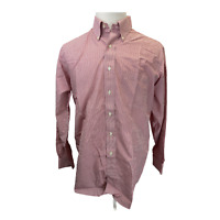 Brooks Brothers 346 Mens long Sleeve Non Iron Red & White Button Down Size16-4/5