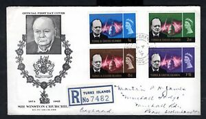 Turks & Caicos Islands - 1966 Churchill Registered Illustrated First Day Cover