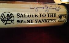 1950's Salute To The Yankees autographed baseball bat multi auto rare JSA coa