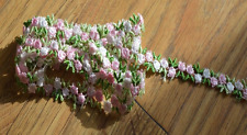 3/8 inch wide shade of pink embroidered lace trim price for 1 yard