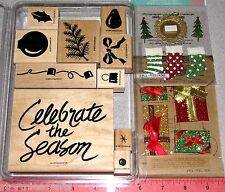 Stampin Up Celebrate the Season Stamp Set Bulb Ornament Bow Evergreen Lights