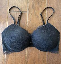 Victoria's Secret Very Sexy Grommet Push Up Bra In Black Size 34DD