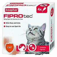 Beaphar Fiprotec Spot-On Cat, 4 Pipette Clear