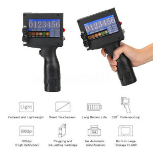 Hand Held Smart Inkjet Printer Jet Printing Date QR Code Coding Marking  F F