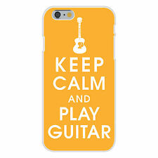 Keep Calm and Play Guitar Musical FITS iPhone 6+ Plastic Snap On Case Cover New