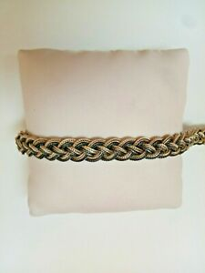 Sterling Silver 925 Braided Thick Bracelet Handmade