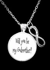 Will You Be My Godmother Infinity Mother's Day Christmas Gift Necklace
