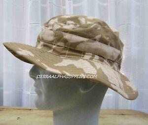 UK British Army Surplus Issue Desert DPM Bush Hat, Brimmed Camouflage Boonie Cap