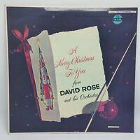 """David Rose """"A Merry Christmas to You"""" MGM MONO LP #E-3469 NM / NM"""