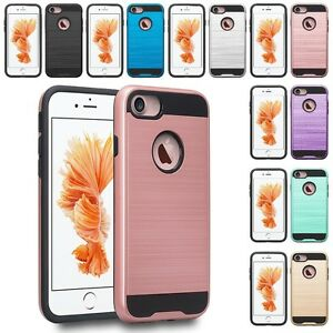 For Apple iPhone 8 Plus / 7 Plus Slim Hybrid Brushed Case Skin Phone Cover