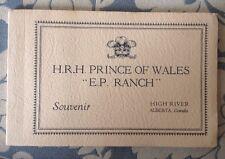 PRINCE EDWARD KING VIII EP RANCH CANADA PHOTO SOUVENIR BOOKLET XRARE