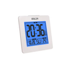 BALDR B0114 Digital Alarm Clock Displays Time, Date, and Indoor Temp w/ Backlit