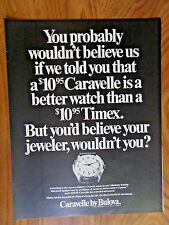 1968 Caravelle by Bulova Ad Better than a Timex
