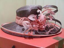Jacques Vert Mother of the Bride DIANTHUS Salmon Pink Mauve Wedding Hat & Box