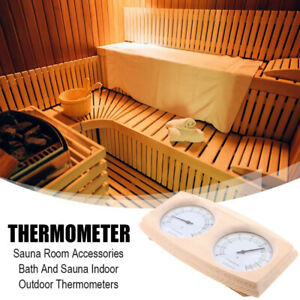 2 in 1 Hygrothermograph Wood Sauna Thermometer Hygrometer Sauna Room Accessories