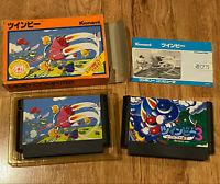 Konami Twinbee Twin Bee 1 (Complete in Box)+3(Cart) JAPAN Famicom Nintendo NES