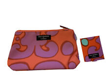 marimekko for CLINIQUE Cosmetic Bag / Makeup Case & Folding Mirror 2 PC Set