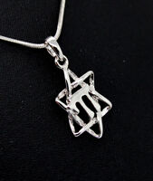 Silver Plated Star of David Chai Life in  Hebrew Jewish Messianic Israel pendant