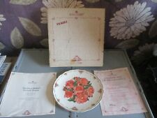Royal Albert Limited Edition Plate - Elizabeth of Glamis Queen Mother's Flowers