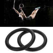 New listing Gymnastic Gym Rings Adjustable Fitness Muscle Strength Training Straps Hoop USA