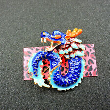 New Animal Blue Enamel Cute Dragon Charm Brooch Pin Gift