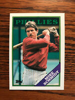 1988 Topps #600 Mike Schmidt Baseball Card Philadelphia Phillies HOF Raw