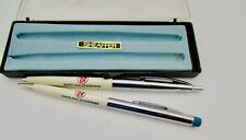 Vintage Sheaffer Buick Parts And Accessories Silver Pen Pencil Set
