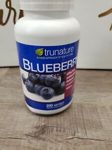 trunature Blueberry Extract 1000 mg, 200 Softgels Exp 07-22