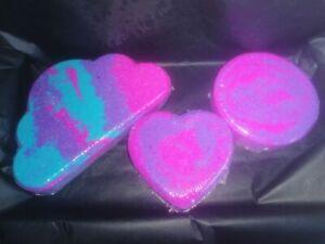 Bath Bomb Gift Set 💜 Snow Fairy 💖 Cloud + Heart + Disc 😍