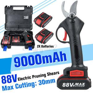 88V Cordless Forbice da potatura a batteria elettrico con 2x 9000mah batteria