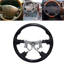Black Leather Steering Wheel for 03-07 Toyota Prado FJ120 Landcruiser FJ100