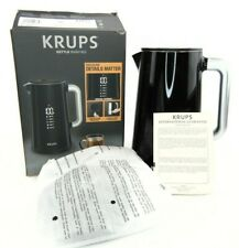 KRUPS Smart Temp Digital Black Kettle Full Stainless Interior BW801852