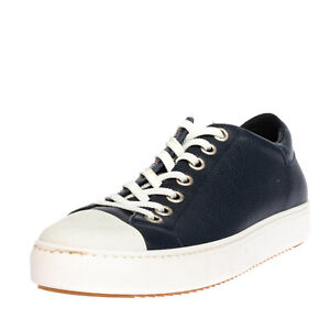 RRP €160 AMA BRAND Leather Sneakers EU39 UK5 US6 Two Tone Grainy Made in Italy