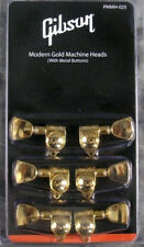 Gibson Les Paul Grover Gold Tuners Set with Metal Buttons - Genuine PMMH-025