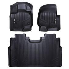 MAXFLOORMAT Floor Mat for F-150 SuperCrew With Front Bucket Seats Black F150