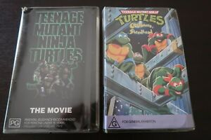Teenage Mutant Ninja Turtles Movie VHS & Cowabunga, Shredhead  (Clam Shells) A